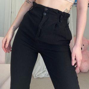 H&M Paperbag Pants  Linen Blend